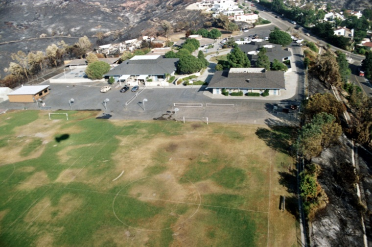Aerial View of Top of the World Elementray School