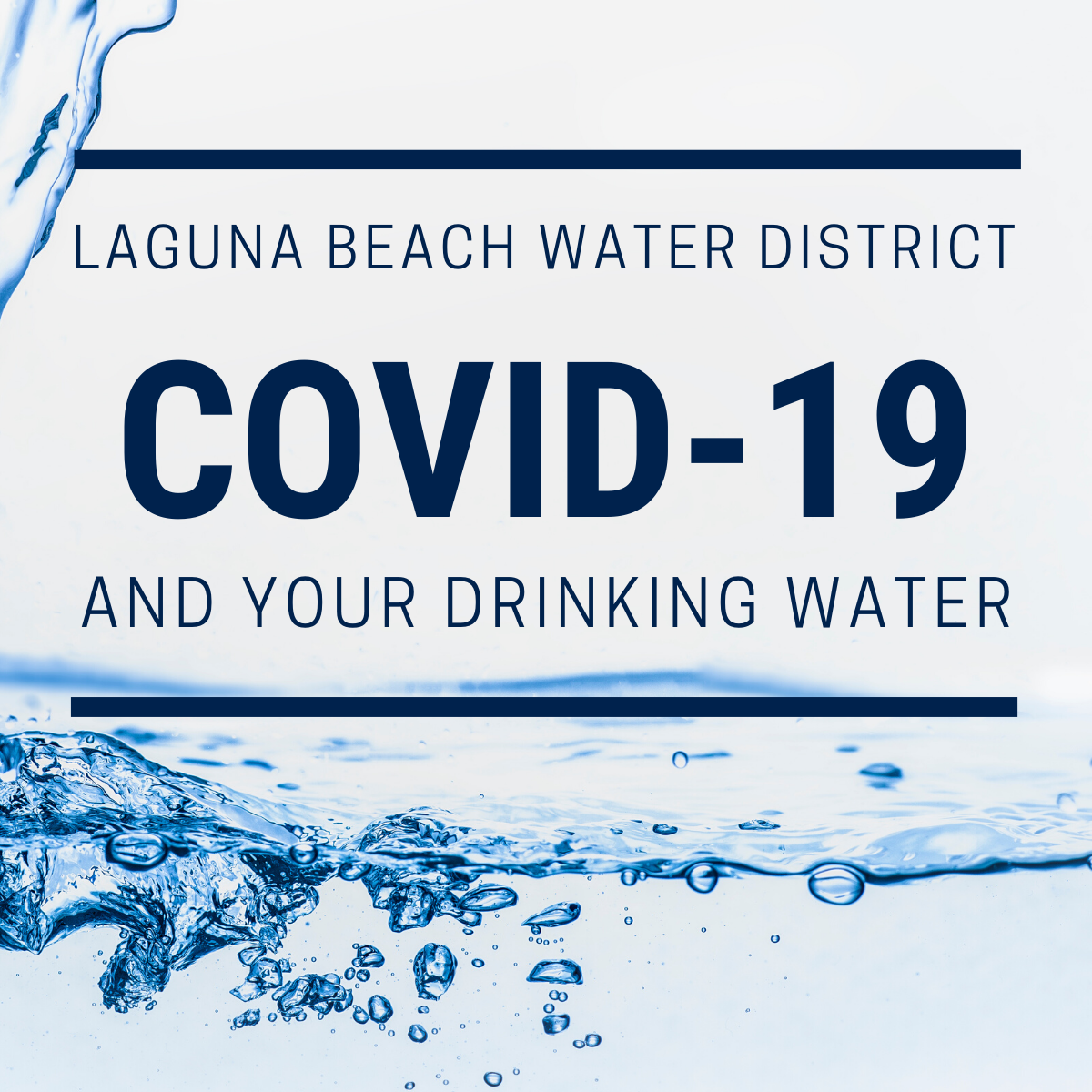 COVID-19 and Your Drinking Water